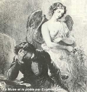 La Muse et le Poète par Eugène Lami