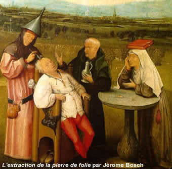 L'extraction de la pierre de folie (détail) par Jérome Bosch